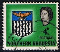 Northern Rhodesia 1963 Coat of Arms SG 79 Fine Used