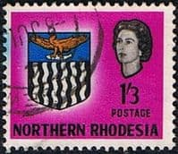 Northern Rhodesia 1963 Coat of Arms SG 83 Fine Used