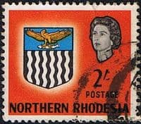 Northern Rhodesia 1963 Coat of Arms SG 84 Fine Used