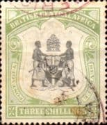 Nyasaland 1897 British Central Africa Coat of Arms SG 49 Fine Used