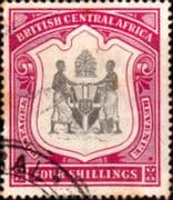 Nyasaland 1897 British Central Africa Coat of Arms SG 50 Fine Used