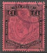 Nyasaland 1913 King George V SG 98 Fine Fiscaly  Used