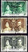 Nyasaland 1937 King George VI Coronation Fine Used