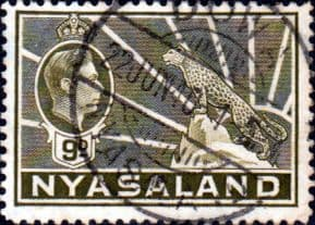 Nyasaland 1938 SG 137 Leopard Symbol of the Protectorate Fine Used