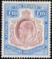 Nyasaland Protectorate Early Issues 1908 - 1952