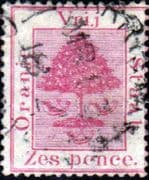 Orange Free State 1868 SG 5 Orange Tree Fine Used