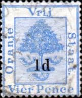 Orange Free State 1890 SG 58 Orange Tree Surcharged Fine Used