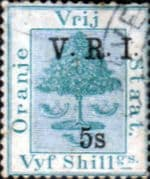 Orange Free State 1900 SG 122 Orange Tree V R I Overprint Fine Used