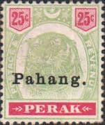 Pahang 1898 Tiger Overprint SG 20 Good Mint