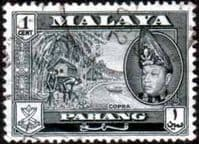 Pahang 1957 SG 75 Copra Fine Used