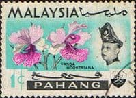Pahang 1965 SG 87 Flowers Orchids Fine Used