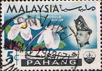 Pahang 1965 SG 89 Flowers Orchids Fine Used