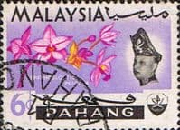 Pahang 1965 SG 90 Flowers Orchids Fine Used