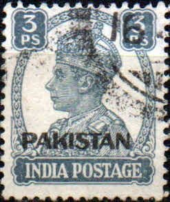 Pakistan Stamps 1947 SG 3 India Overprints Fine Mint