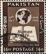 Pakistan 1958 Human Rights SG 100 Fine Used