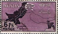 Pakistan 1960 Map SG 108 Fine Used