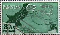Pakistan 1960 Map SG 110 Fine Used