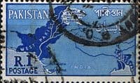 Pakistan 1960 Map SG 111 Fine Used