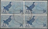 Pakistan 1960 Map SG 111 Fine Used Block of 4