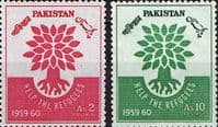 Pakistan 1960 World Refugee Year Set Fine Mint