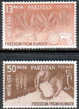 Pakistan 1963 Freedom From Hunger Stamps