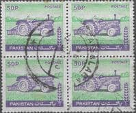 Pakistan 1978 Tractor SG 471 Fine Used Block of 4