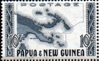 Papua New Guinea 1952 SG 14 Map Fine Mint