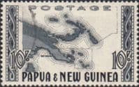 Papua New Guinea 1952 SG 14 Map Fine Used