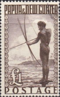 Papua New Guinea 1952 SG 15 Papuan Shooting Fish Fine Used