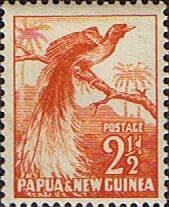 Postage Stamps Papua New Guinea 1952 SG 4 Bird of Paradise Fine Mint Scott 125