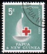 Papua New Guinea 1963 Red Cross Centenary Fine Used