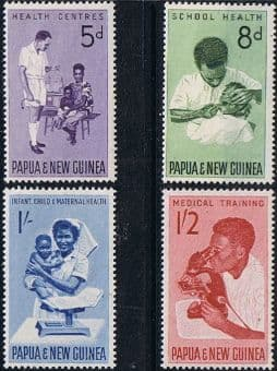 Postage Stamps Stamp Papua New Guinea 1964 Health Services Set Fine Mint