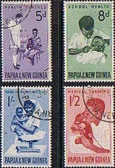 Postage Stamps Papua New Guinea 1964 Health Services Set Fine Used
