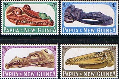 Papua New Guinea 1965 Sepik Canoe Prows in Port Moresby Museum Set Fine Mint