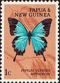 Butterflies Stamp Stamps Papua New Guinea 1966 Butterflies SG 82 Fine Mint Scott 209