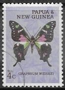 Papua New Guinea 1966 Butterflies SG 84 Fine Used