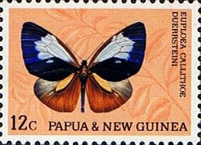 Insect Stamp Stamps Papua New Guinea 1966 Butterflies SG 86a Fine Mint Scott 214