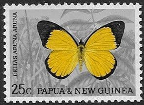 Postage Stamps Papua New Guinea 1966 Butterflies SG 85 Fine Used Scott 216