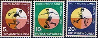 Pacific Island Stamps Papua New Guinea 1966 South Pacific Games Set Fine Mint