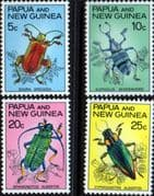 Papua New Guinea 1967 Fauna Conservation Beetles Set Fine Mint