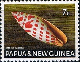 Postage Stamp Papua New Guinea 1968 Sea Shells Episcopal Mitre SG 141 Fine Used  Scott 269