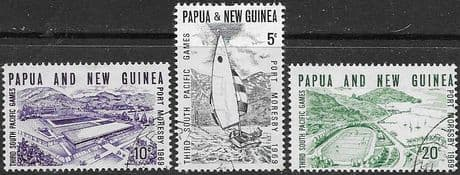 Postage Stamps Papua New Guinea 1969 South Pacific Games Set Fine Mint