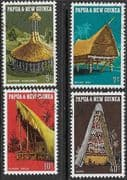 Papua New Guinea 1971 Native Dwellings Set Fine Used
