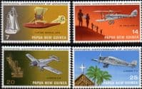Papua New Guinea 1972 Planes Set Fine Mint