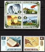 Papua New Guinea 1973 Telecommunications Set with se-tennant Block Fine Mint