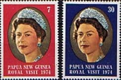Postage Stamps Stamp Papua New Guinea 1974 Royal Visitt Set Fine Mint