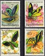 Papua New Guinea 1975 Fauna Conservation Butterflies Set Fine Used