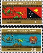 Papua New Guinea 1975 Independence Set Fine Mint