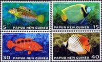 Papua New Guinea 1976 Fauna Conservation Tropical Fish Set Fine Mint