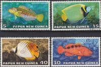 Papua New Guinea 1976 Fauna Conservation Tropical Fish Set Fine Used
